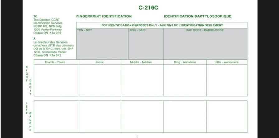 Где снять отпечатки пальцев в Киеве, как заполнить C-216C, FD-258?